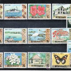 Sellos: KIRIBATI 3/16 SIN CHARNELA, FAUNA, FLORES, BARCO, RELIGION, AVES, . Lote 24958263