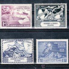 Sellos: GILBERT & ELLICE ISLANDS 54/7 CON CHARNELA, U.P.U., 75º ANIVERSARIO DE LA UNION POSTAL UNIVERSAL. Lote 25220822