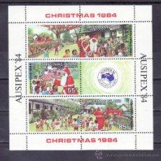 Sellos: CHRISTMAS HB 3 SIN CHARNELA, NAVIDAD, AUSIPEX 84 EXPOSICION FILATELICA INTERNACIONAL, . Lote 33523801