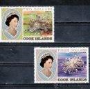 Sellos: COOK 659/60 SIN CHARNELA, CORAL DE LAS ISLAS DEL PACIFICO, . Lote 25778057