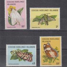 Sellos: COCOS (ISLAS) 93/6 SIN CHARNELA, FAUNA, MARIPOSAS, . Lote 26093638