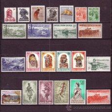 Sellos: PAPUA 18/40*** - AÑO 1958 - FAUNA, FLORA, AVES, BARCOS, ARTESANÍA. Lote 19274759