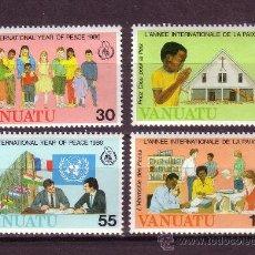 Sellos: VANUATU 751/54** - AÑO 1986 - AÑO INTERNACIONAL DE LA PAZ. Lote 28366499