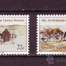 Sellos: NACIONES UNIDAS NEW YORK 438/39*** - AÑO 1985 - 40º ANIVERSARIO DE NACIONES UNIDAS. Lote 28768876
