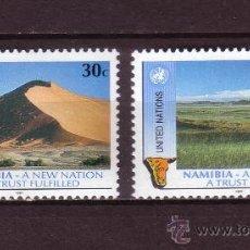 Sellos: NACIONES UNIDAS NEW YORK 588/89*** - AÑO 1991 - NAMIBIA NACIMIENTO DE UNA NACION. Lote 28784999