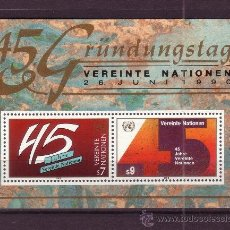 Sellos: NACIONES UNIDAS VIENA HB 5*** - AÑO 1990 - 45º ANIVERSARIO DE NACIONES UNIDAS. Lote 29445479