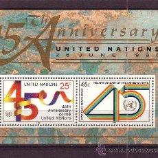 Sellos: NACIONES UNIDAS NEW YORK HB 11*** - AÑO 1990 - 45º ANIVERSARIO DE NACIONES UNIDAS. Lote 29472125