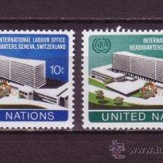 Sellos: NACIONES UNIDAS NUEVA YORK 237/38*** - AÑO 1974 - ORGANIZACION INTERNACIONAL DEL TRABAJO . Lote 29494393