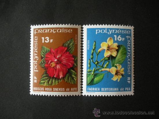 POLINESIA 1978 IVERT 119/20 *** FLORES DE POLINESIA - FLORA (Sellos - Extranjero - Oceanía - Otros paises)