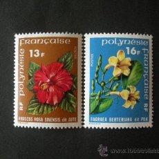 Sellos: POLINESIA 1978 IVERT 119/20 *** FLORES DE POLINESIA - FLORA. Lote 31003913