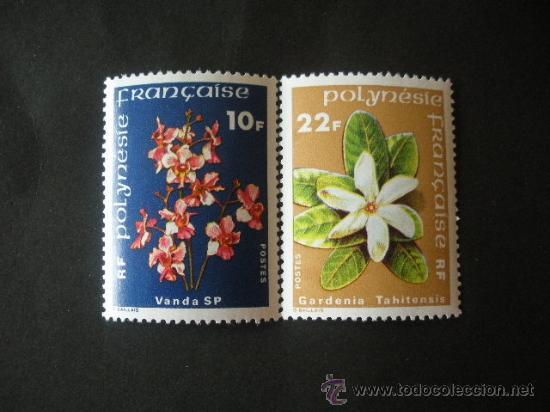 POLINESIA 1979 IVERT 128/9 *** FLORES DE POLINESIA - FLORA (Sellos - Extranjero - Oceanía - Otros paises)