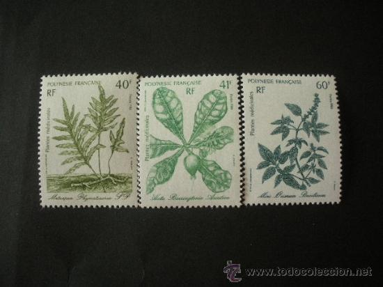 POLINESIA 1986 IVERT 268/70 *** PLANTAS MEDICINALES - FLORA (Sellos - Extranjero - Oceanía - Otros paises)
