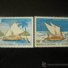 Sellos: NUEVA CALEDONIA 1987 IVERT 535/6 *** PIRAGUAS CALEDONIANAS - BARCOS. Lote 31601186