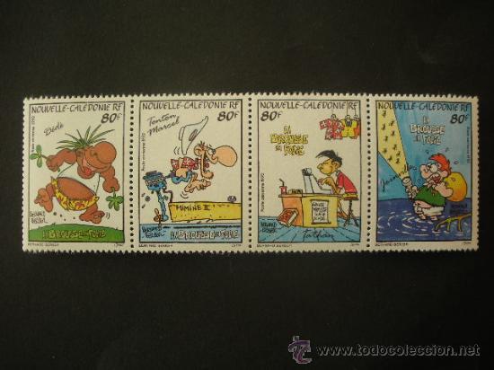 NUEVA CALEDONIA 1992 AEREO IVERT 292/5 *** LA LOCURA DE BUSH - DIBUJOS HUMORISTICOS (Sellos - Extranjero - Oceanía - Otros paises)