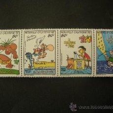 Sellos: NUEVA CALEDONIA 1992 AEREO IVERT 292/5 *** LA LOCURA DE BUSH - DIBUJOS HUMORISTICOS. Lote 32074463