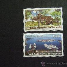 Sellos: POLINESIA FRANCESA, AÑO 2012. 50 ANIVERSARIO PUERTO DE PAPEETE. Lote 32233189