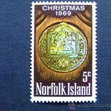 Sellos: NORFOLK ISLAND --OCEANIA AÑO 1969 YV 104 **MNH. Lote 34561013