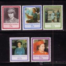Sellos: PAPUA 515/19*** - AÑO 1986 - 60º ANIVERSARIO DE LA REINA ISABEL II. Lote 34934056