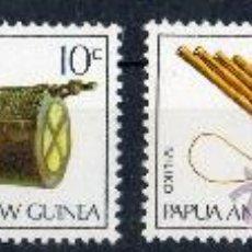 Sellos: PAPUA NUEVA GUINEA AÑO 1969 YV 165/68*** INSTRUMENTOS MUSICALES - MÚSICA - ARTESANÍA. Lote 35020577