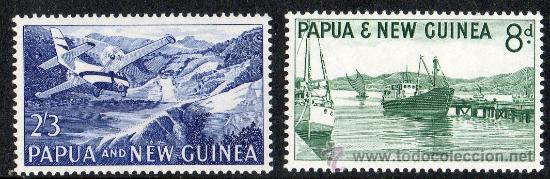 PAPUA NUEVA GUINEA AÑO 1964 YV *** AVIONES - BARCOS - TRANSPORTES - MONTAÑAS (Sellos - Extranjero - Oceanía - Otros paises)