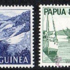 Sellos: PAPUA NUEVA GUINEA AÑO 1964 YV *** AVIONES - BARCOS - TRANSPORTES - MONTAÑAS. Lote 35026264