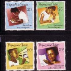 Sellos: PAPUA 583/86*** - AÑO 1989 - SEMANA INTERNACIONAL DE LA CARTA. Lote 36024910