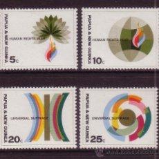 Sellos: PAPUA 134/37* - AÑO 1968 - AÑO INTERNACIONAL DE LOS DERECHOS HUMANOS - SUFRAGIO UNIVERSAL. Lote 36156779