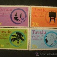 Sellos: TUVALU 1977 IVERT 46/9 *** 30º ANIVERSARIO COMISIÓN DEL PACIFICO SUR . Lote 36296000