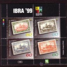 Sellos: MARSHALL HB 41*** - AÑO 1999 - EXPOSICIÓN FILATÉLICA INTERNACIONAL IBRA 99, NUREMBERG - BARCOS. Lote 36982361