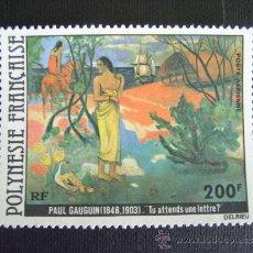 Sellos: POLINESIA FRANCESA,Nº YVERT AEREO 144*** AÑO 1979. PINTURA. GAUGUIN. Lote 37209234