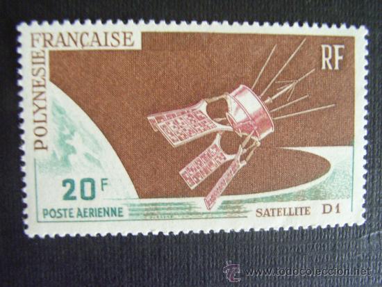 POLINESIA FRANCESA,Nº YVERT AEREO 19*** AÑO 1966. SATELITE D1. (Sellos - Extranjero - Oceanía - Otros paises)