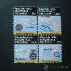 Sellos: MARSHALL 1984 IVERT 63/6 *** SERIE BÁSICA - MAPAS DE LAS ISLAS. Lote 38022160