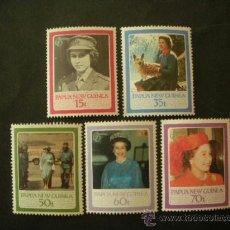 Sellos: PAPUA Y NUEVA GUINEA 1986 IVERT 515/9 *** 60º ANIVERSARIO DE S. M. LA REINA ELISABETH II. Lote 38447179