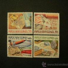 Sellos: PAPUA Y NUEVA GUINEA 1985 IVERT 503/6 *** CENTENARIO DEL CORREO. Lote 38447260