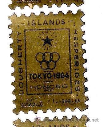 DOUGHERTY ISLANDS - 1964 - SELLO ADHESIVO - 1 GARANT OR - TOKIO 1964 - HONORO (Sellos - Extranjero - Oceanía - Otros paises)