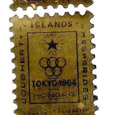 Sellos: DOUGHERTY ISLANDS - 1964 - SELLO ADHESIVO - 1 GARANT OR - TOKIO 1964 - HONORO. Lote 236701740