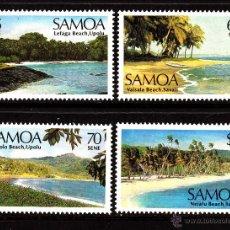 Sellos: SAMOA 632/35** - AÑO 1987 - PAISAJES DE LA ISLA - PLAYAS. Lote 40300332