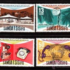 Sellos: SAMOA 392/95** - AÑO 1977 - LAS TELECOMUNICACIONES DE SAMOA. Lote 40363331