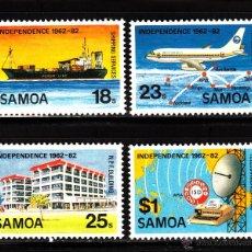 Sellos: SAMOA 513/16** - AÑO 1982 - 20º ANIVERSARIO DE LA INDEPENDENCIA - BARCOS - AVIONES. Lote 40363380