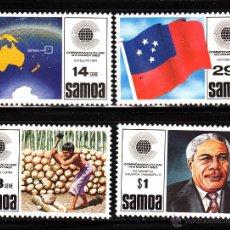 Sellos: SAMOA 525/28** - AÑO 1983 - DIA DE LA COMMONWEALTH. Lote 40363403