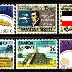 Sellos: SAMOA 464/69** - AÑO 1980 - ANIVERSARIOS. Lote 40379216