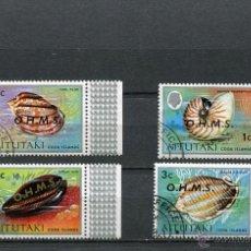 Stamps - SELLOS PAISES EXOTICOS AITUTAKI ISLAS COOK ISLANDS SOUTH PACIFIC SOBRECARGA O.H.M.S. CONCHAS MARINAS - 41473774