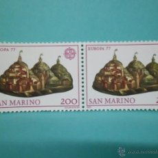 Sellos: LOTE DE 2 SELLOS SAN MARINO - EUROPA 77 - . Lote 42928122