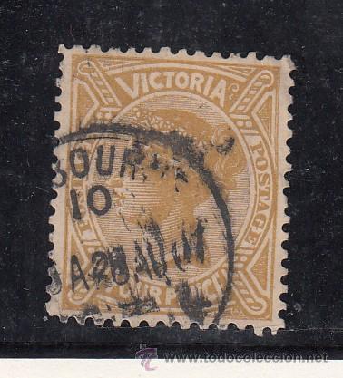 VICTORIA 122 USADA, (Sellos - Extranjero - Oceanía - Otros paises)