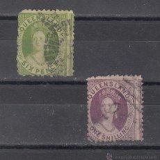 Sellos - queensland 33/4 usada, - 43481743
