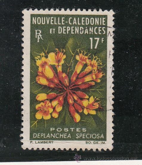 NUEVA CALEDONIA 321 SIN CHARNELA, FLORES, (Sellos - Extranjero - Oceanía - Otros paises)