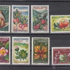 Sellos: NUEVA CALEDONIA 314/21 CON CHARNELA, FLORES, . Lote 43538129