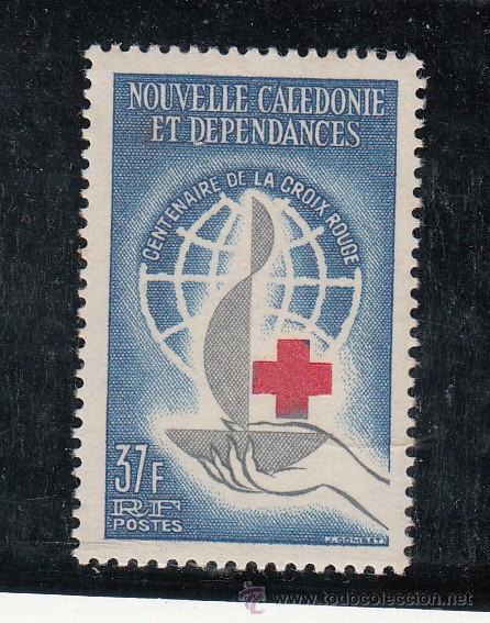 NUEVA CALEDONIA 312 SIN CHARNELA, CENTENARIO DE LA CRUZ ROJA INTERNACIONAL, (Sellos - Extranjero - Oceanía - Otros paises)