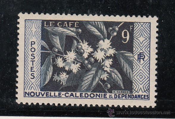NUEVA CALEDONIA 286 SIN CHARNELA, FLORES, EL CAFE, (Sellos - Extranjero - Oceanía - Otros paises)