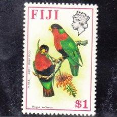 Sellos: FIJI 297 CON CHARNELA, FAUNA, FLORES, PAJAROS,. Lote 43739836